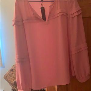 Banana republic NWT m pink ruffle blouse
